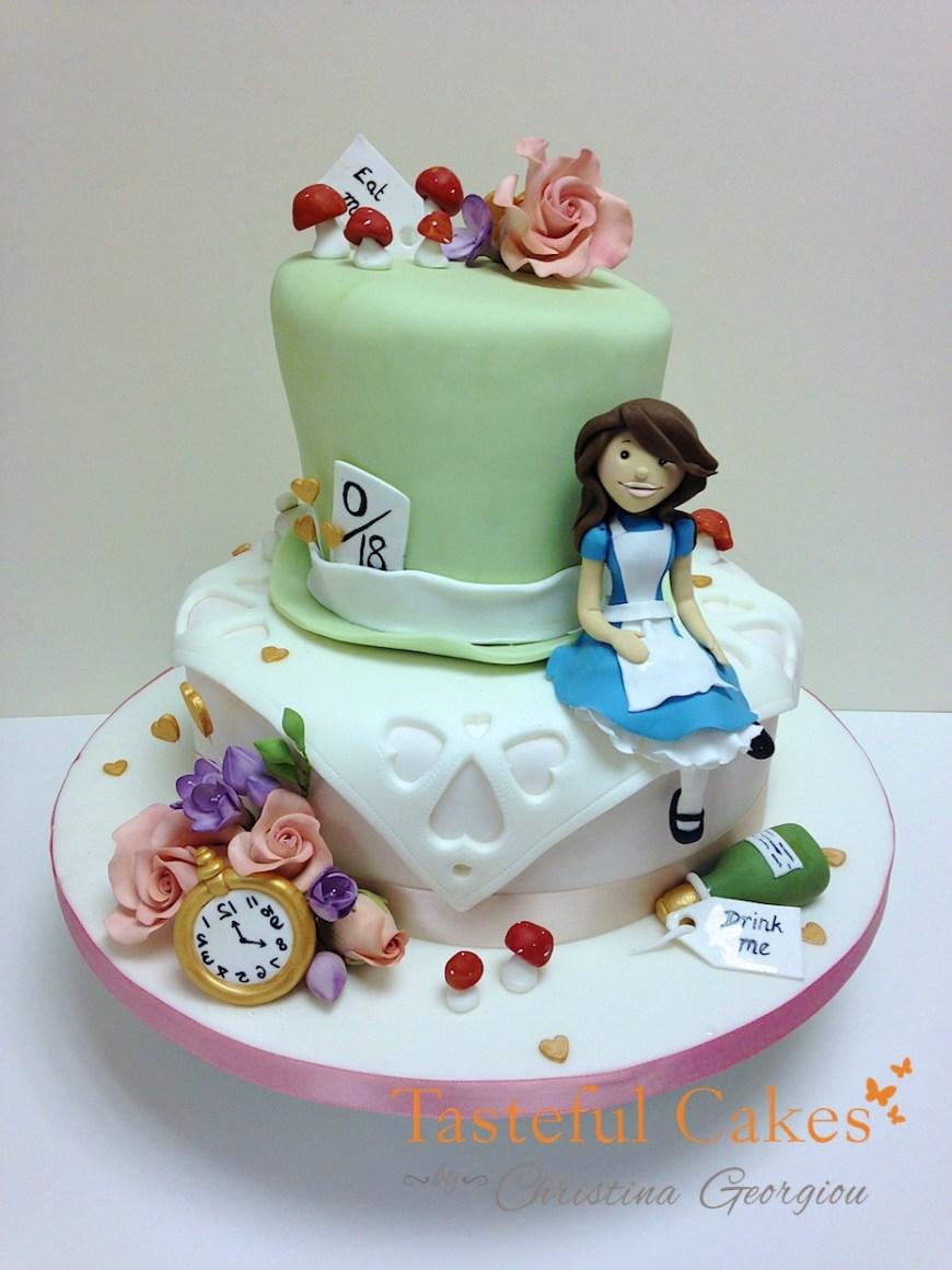 Alice In Wonderland Birthday Cake Tasteful Cakes Christina Georgiou Alice In Wonderland Birthday Cake