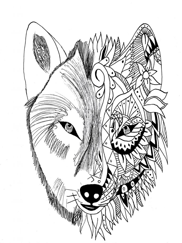 Amazing Coloring Pages Realistic Coloring Pages Amazing Coloring Page Anime Wolf Drawings