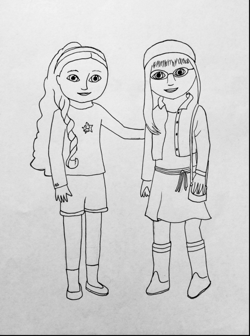 American Girl Doll Coloring Pages American Girl Doll Colouring Pages Coloring Ba Lol Black And White