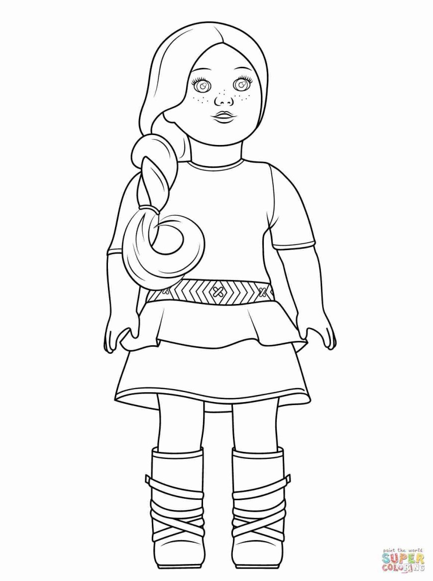American Girl Doll Coloring Pages American Girl Dolls Coloring Pages New Doll Bitslice