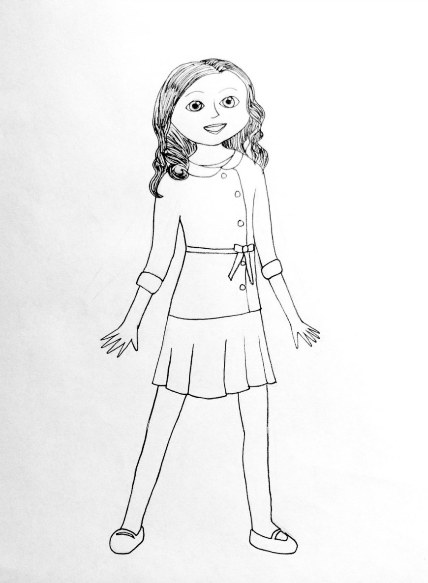 American Girl Doll Coloring Pages Coloring Pages Free Coloring Pages Of American Girloll