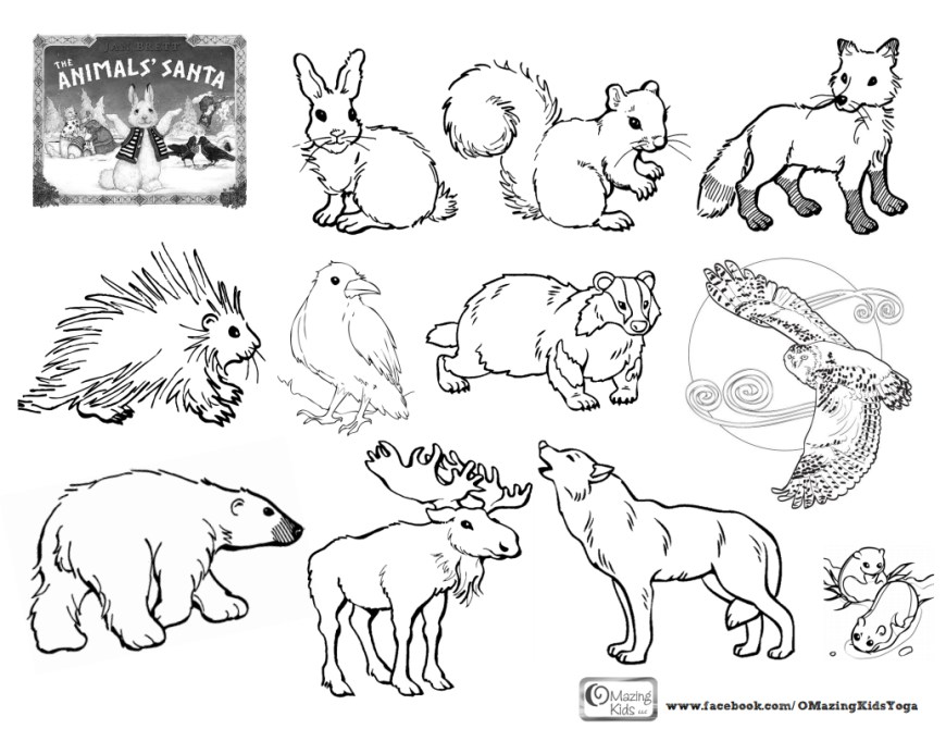 Animals Coloring Pages Printable Animal Coloring Pages With Birthday Also Printing Kids