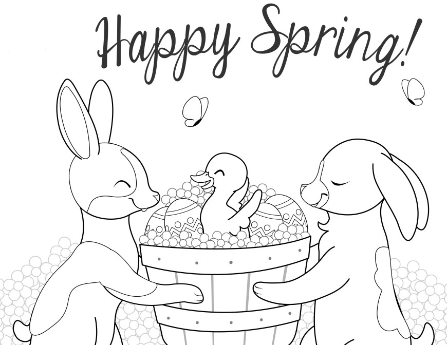 April Coloring Pages April Coloring Pages Best Coloring Pages For Kids