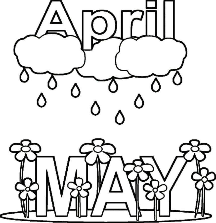 April Coloring Pages Coloring Pages For April Jennymorgan Me Inside Dechome And Showers