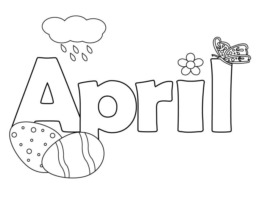 April Coloring Pages Printable April Coloring Pages Online Free