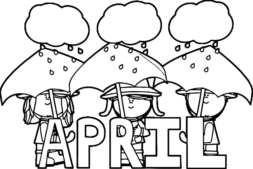 April Coloring Pages Sobriety April Coloring Page Wecoloringpage