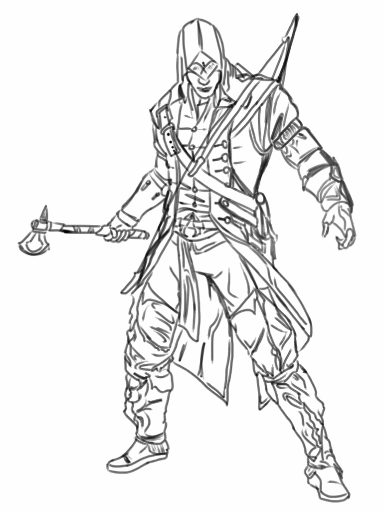 Assassin's Creed Coloring Pages Assassins Creed Drawing At Getdrawings Free For Personal Use