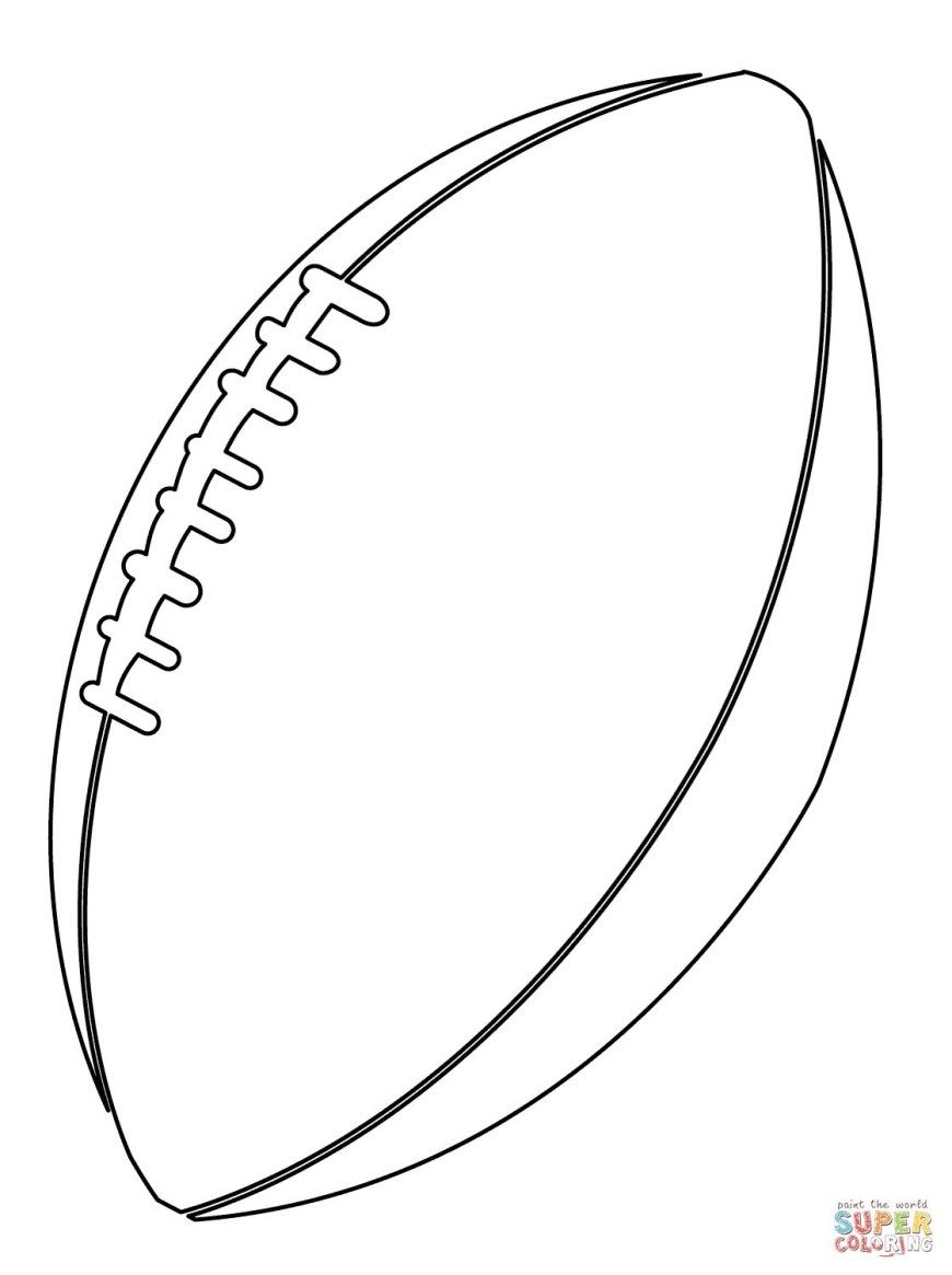 Ball Coloring Pages American Football Ball Coloring Page For Coloring Pages Football