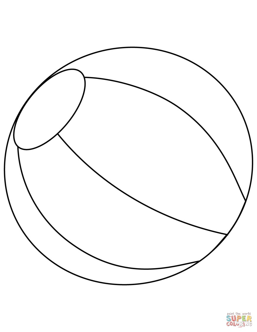 Ball Coloring Pages Beach Ball Coloring Page Free Printable Coloring Pages