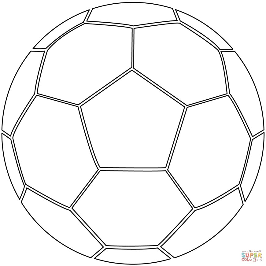 Ball Coloring Pages Soccer Ball Coloring Page Free Printable Coloring Pages
