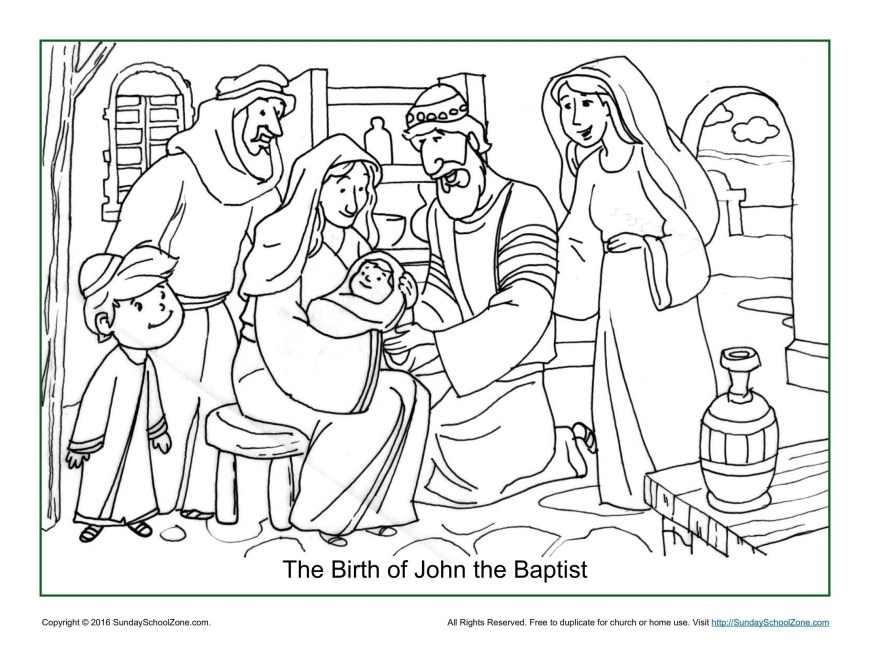Baptism Coloring Pages Jesus Baptism Coloring Pages Awesome John The Baptist Of Printable 1