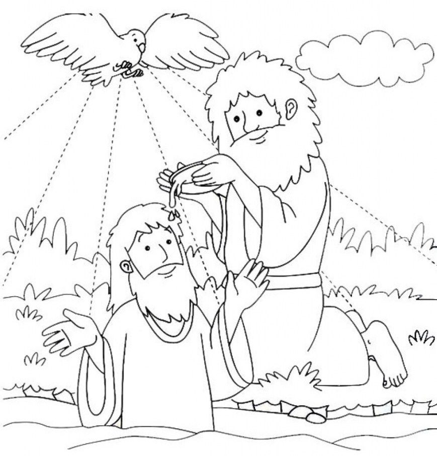 Baptism Coloring Pages The Best Free Baptized Coloring Page Images Download From 14 Free