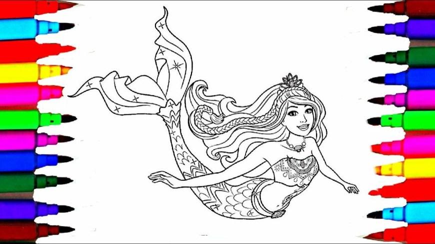 Barbie Mermaid Coloring Pages Barbie Dreamtopia Coloring Pages L Barbie Mermaid Drawing Pages To