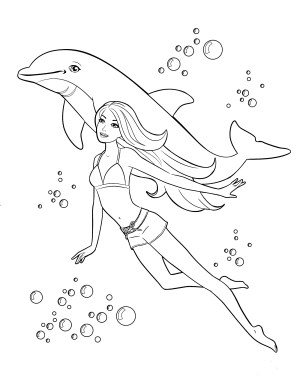 Barbie Mermaid Coloring Pages Barbie Free Pictures To Color Barbie Mermaid Coloring Pages The