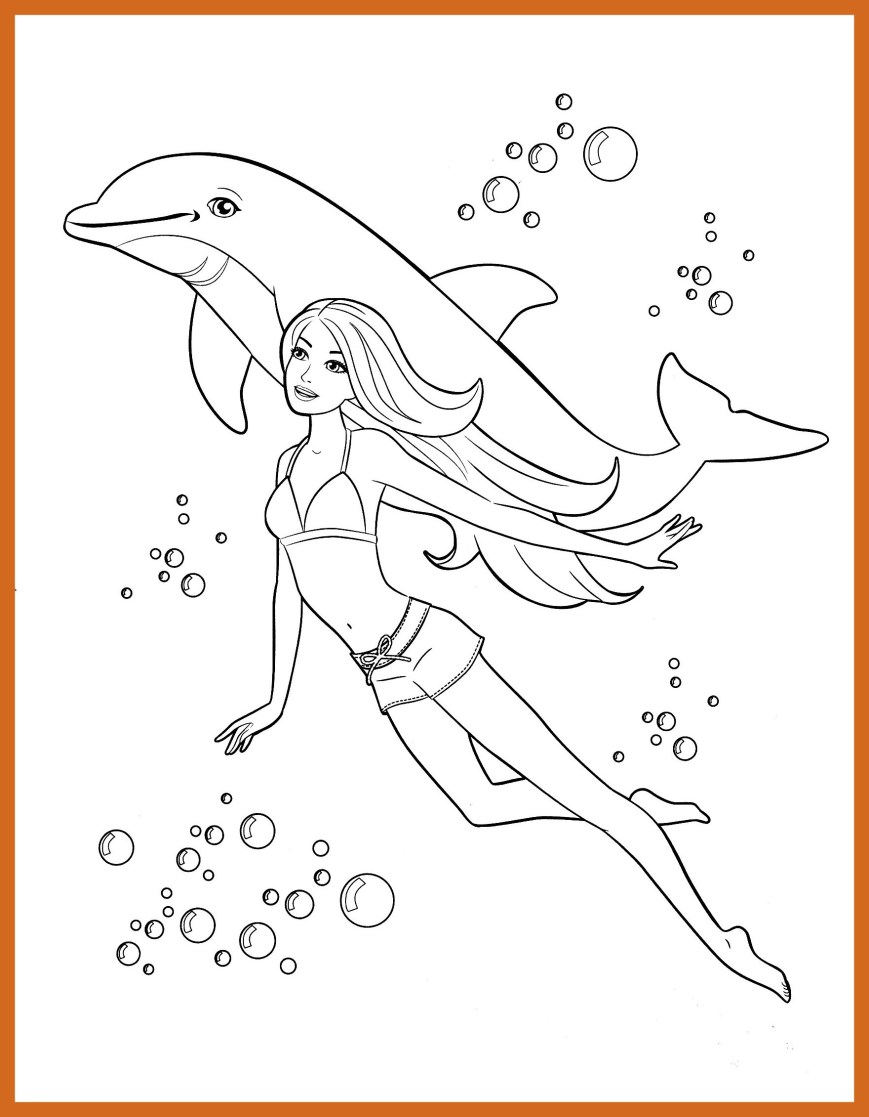 Barbie Mermaid Coloring Pages Coloring Pages For Kids Barbie Printable Coloring Page For Kids