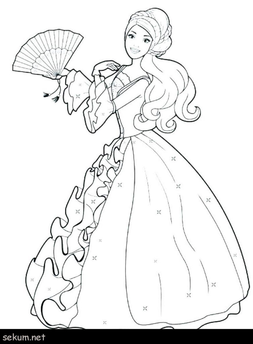 Barbie Princess Coloring Pages Barbie Horse Coloring Pages Barbie Coloring Books Barbie Coloring