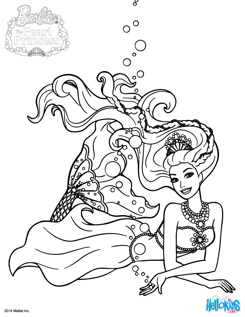 Barbie Princess Coloring Pages Barbie The Pearl Princess Coloring Pages 21 Barbie Printables For