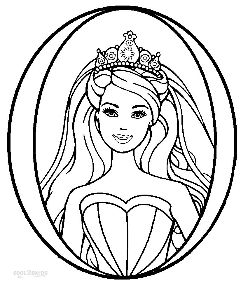 Barbie Princess Coloring Pages Printable Barbie Princess Coloring Pages For Kids Cool2bkids