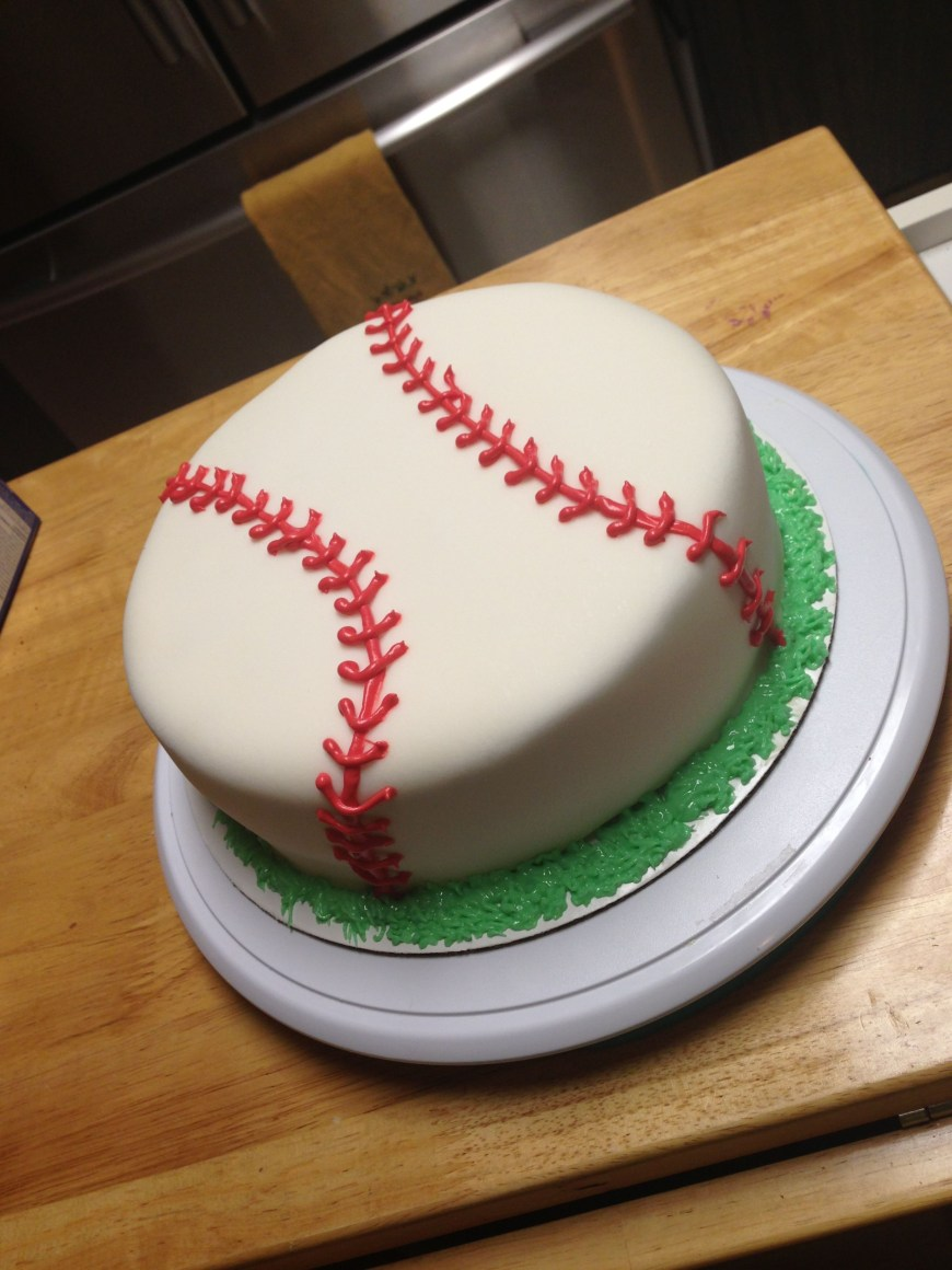 Baseball Birthday Cake Baseball Cake Fondant Baseball Birthdaycake Sweets Shel