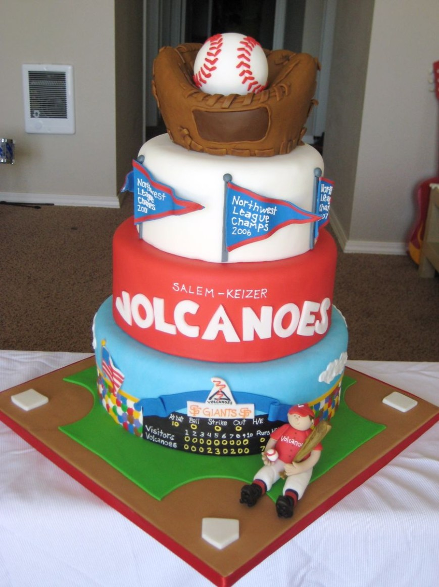 Baseball Birthday Cake Gallery 3 Cakes Snips And Snails And Puppy Dogs Tails