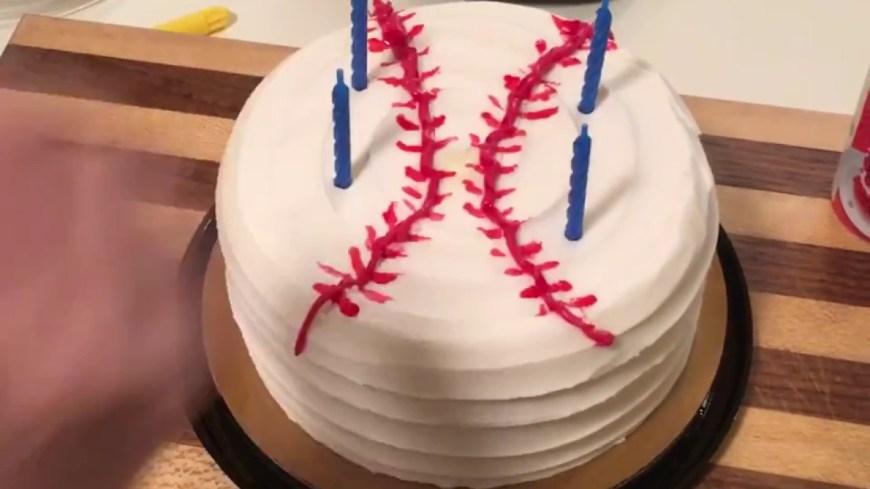 Baseball Birthday Cake Slacker Mom Baseball Birthday Cake Momcavetv Youtube