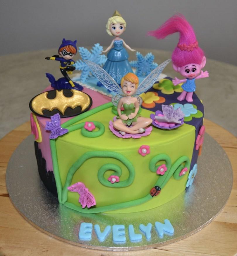 Batgirl Birthday Cake Batgirl Elsa Poppy Tinkerbell Cakecentral