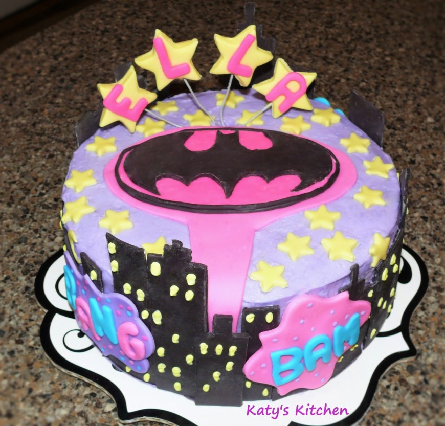 Batgirl Birthday Cake Katys Kitchen Batgirl Cake