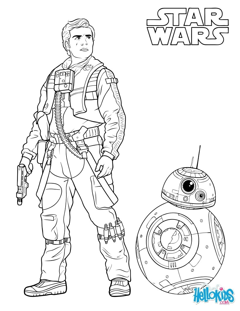 Bb8 Coloring Page Poe Dameron And Bb 8 Coloring Page Ecd Star Wars Pages Bb8