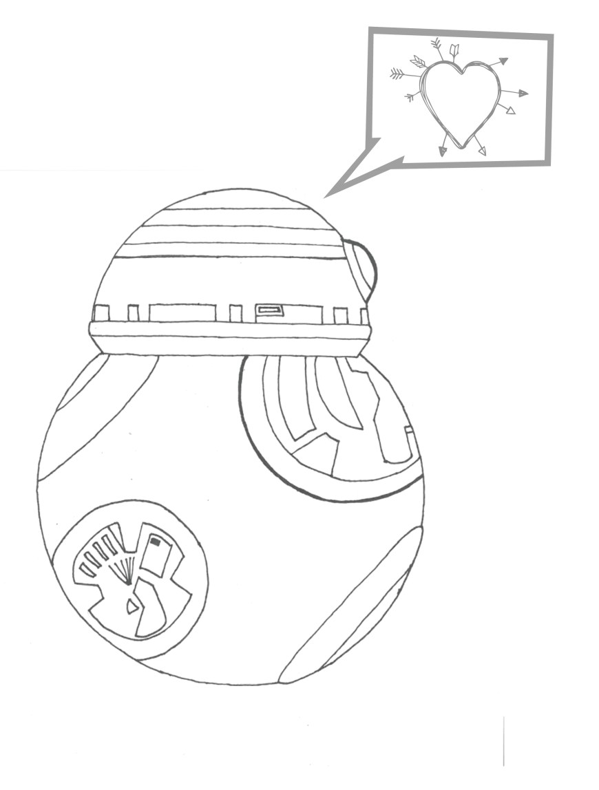 Bb8 Coloring Page Star Wars Coloring Sheets Rey Best Of The Force Awakens Pages