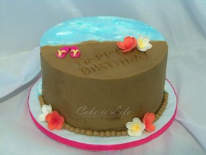 Beach Birthday Cakes Beach Birthday Cake 052010 This Cake Was Strawberry Shor Flickr