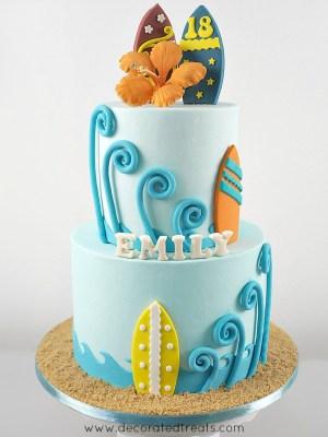 Beach Birthday Cakes Beach Birthday Cake