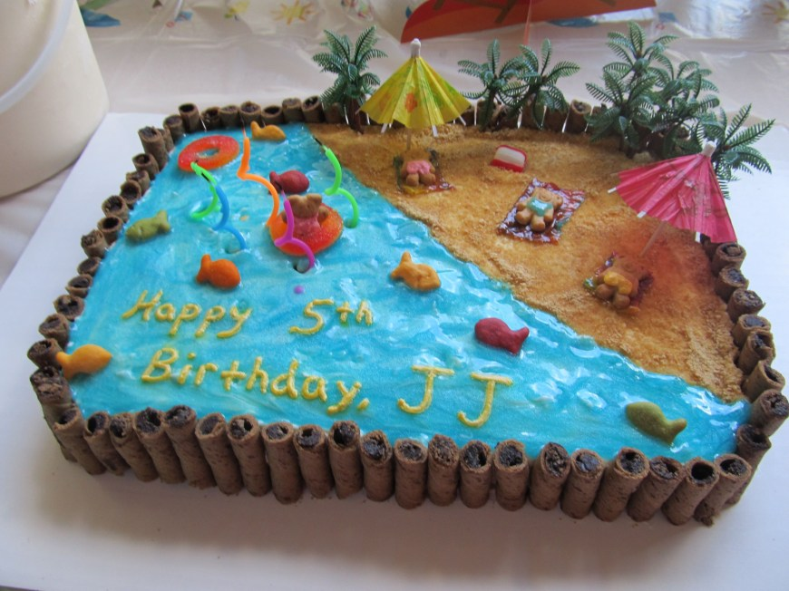 Beach Birthday Cakes Beach Cake I Think Ill Do Something Like This For Josies Pool