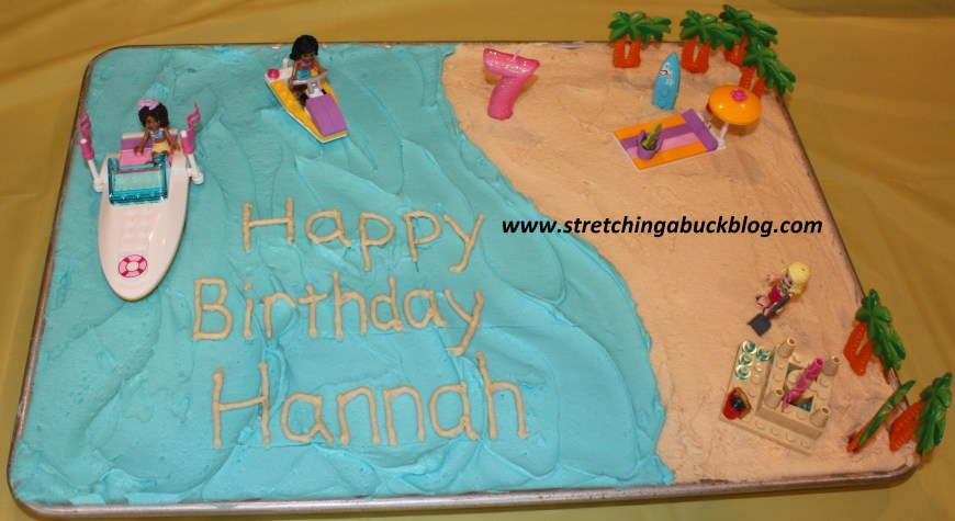 Beach Birthday Cakes How To Make A Budget Beach Party Birthday Cake Stretching A Buck