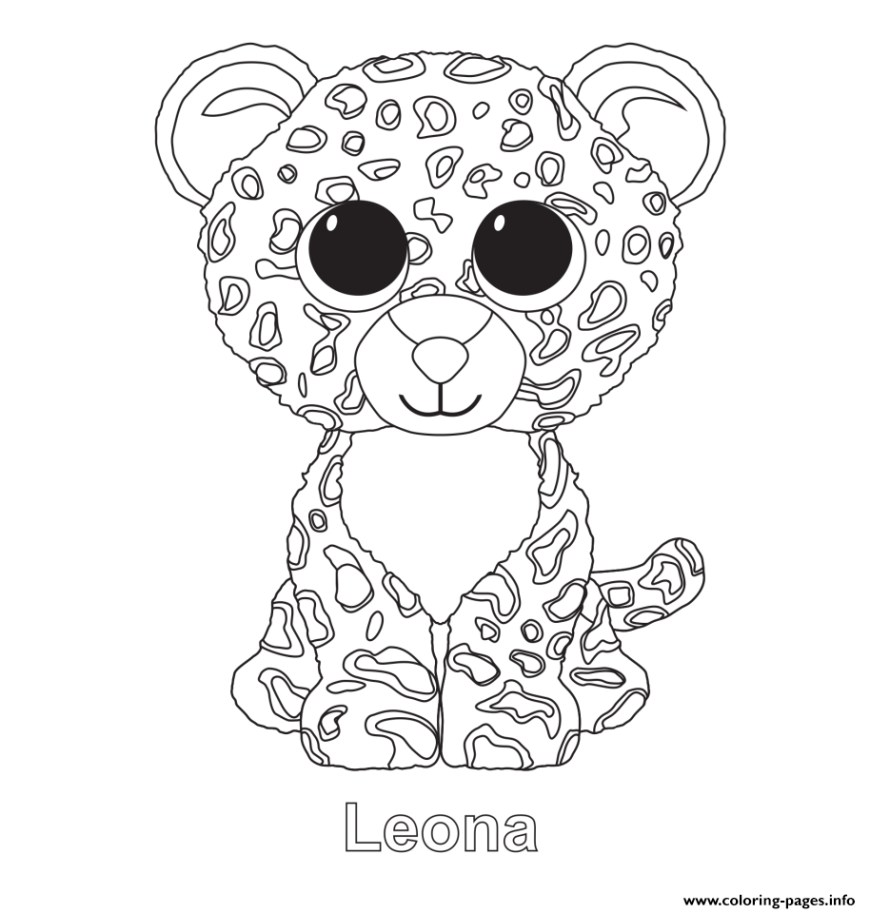 Beanie Boo Coloring Pages Leona Beanie Boo Coloring Pages Printable