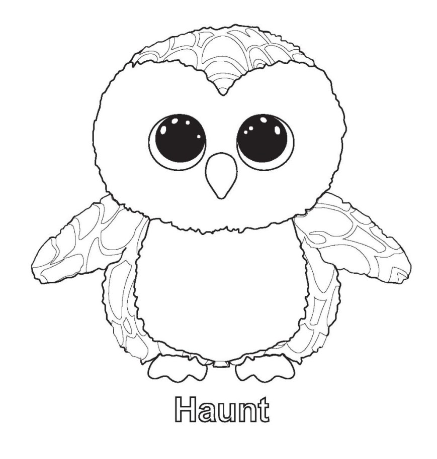Beanie Boo Coloring Pages Printable Ty Beanie Boo Coloring Pages For Preschoolers