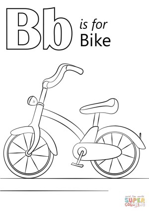 Bike Coloring Pages Letter B Is For Bike Coloring Page Free Printable Coloring Pages