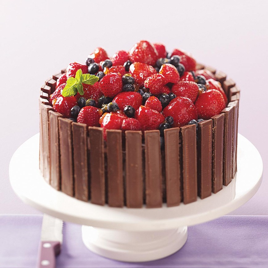 Birthday Cake Decorating Ideas Chocolate Fruit Basket Cake Recipe Taste Of Home