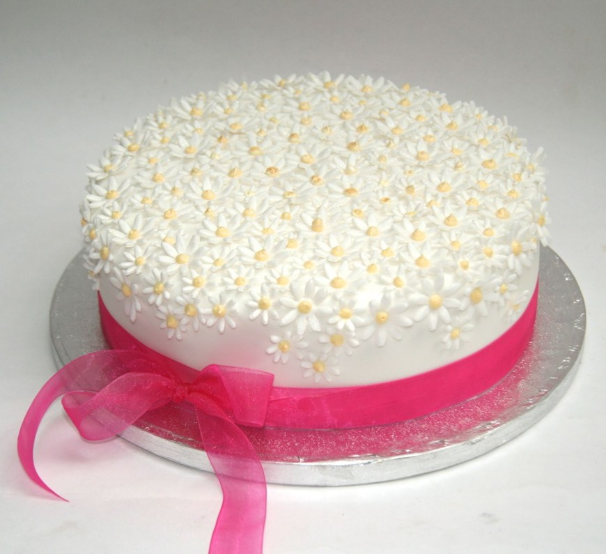 Birthday Cake Decorating Ideas Daisy Cakes Wedding Cakes Birthday Cakes Simple White Daisy Cake