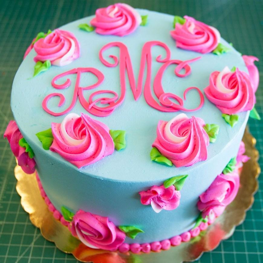 Birthday Cake Design A Lilly Pulitzer Inspired Floral Birthday Cake Cake 084