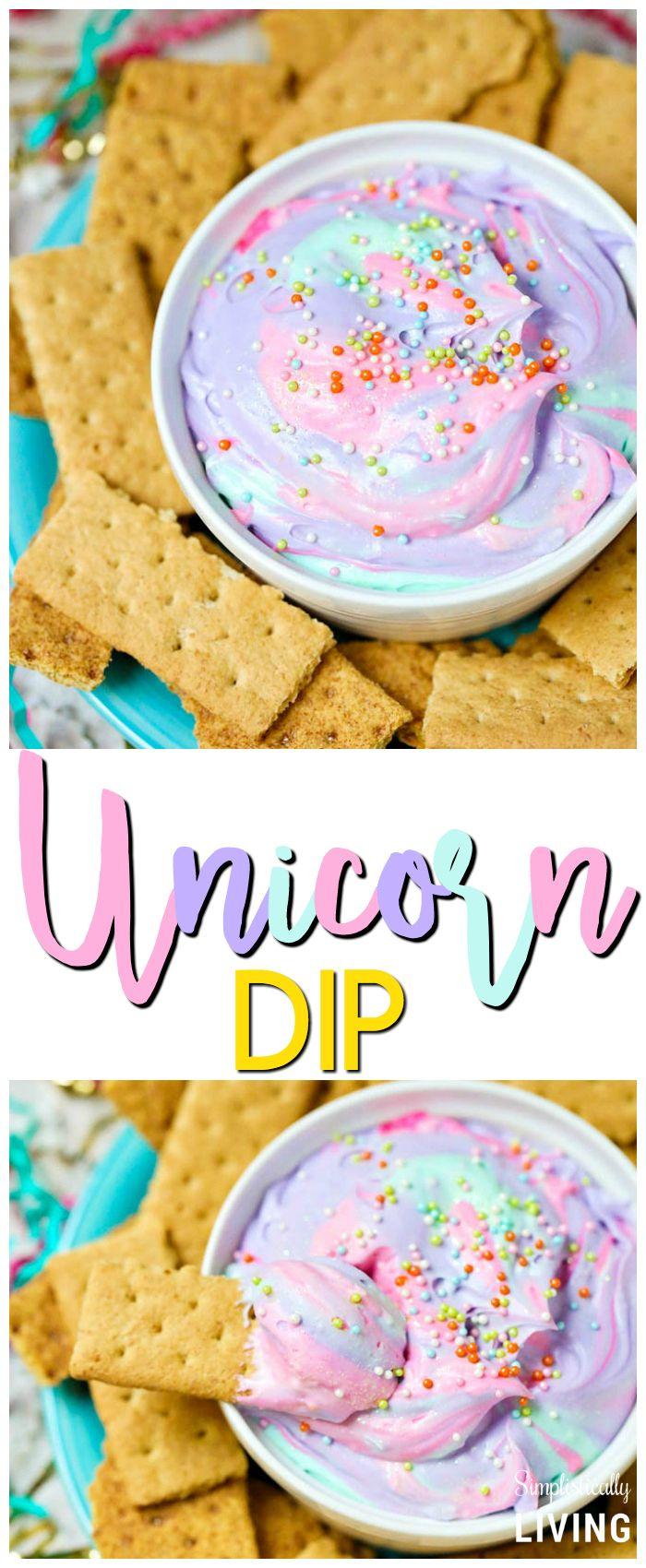 Birthday Cake Dip Unicorn Dip Recipe Simple Recipes Pinterest Unicorn Foods