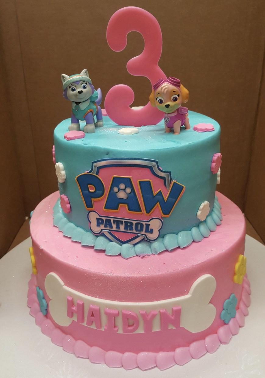 Birthday Cake For Girls Calumet Bakery Girls Paw Patrol Cake Girls Decorated Cakes Paw
