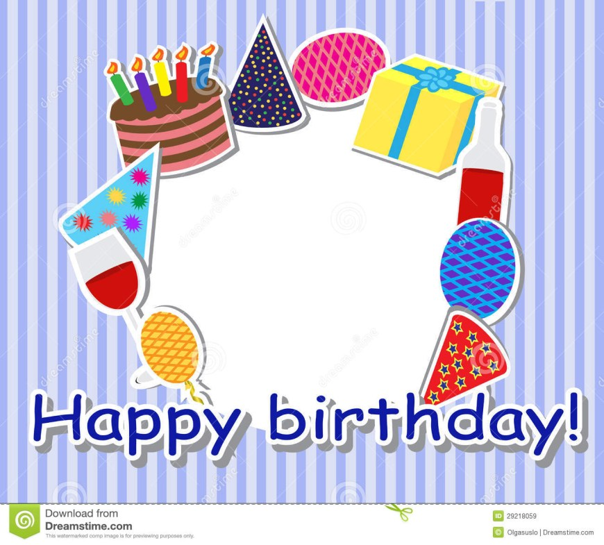 Birthday Cake Photo Frame Birthday Frame Stock Illustration Illustration Of Entertainment