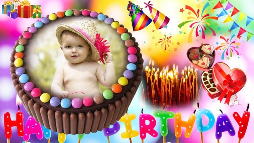 Birthday Cake Photo Frame Birthday Photo Frames Hd