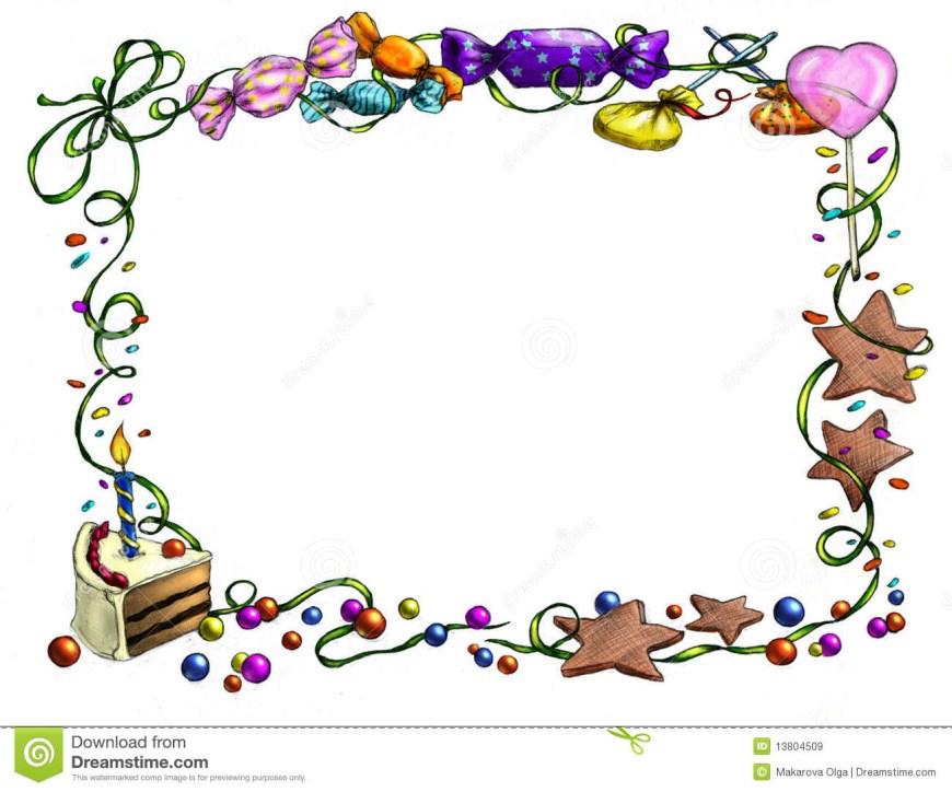 Birthday Cake Photo Frame Happy Birthday Frame Stock Illustration Illustration Of Artwork