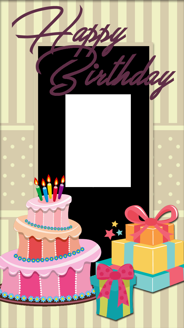 Birthday Cake Photo Frame Pretty With And Gifts Freeproducts