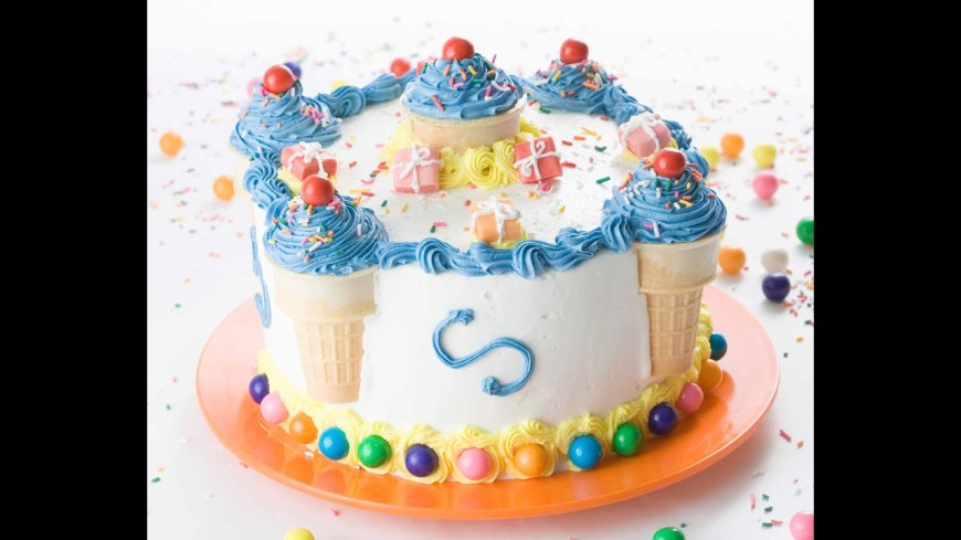 Birthday Cake Themes Decorate A Birthday Cake In Minutes Youtube