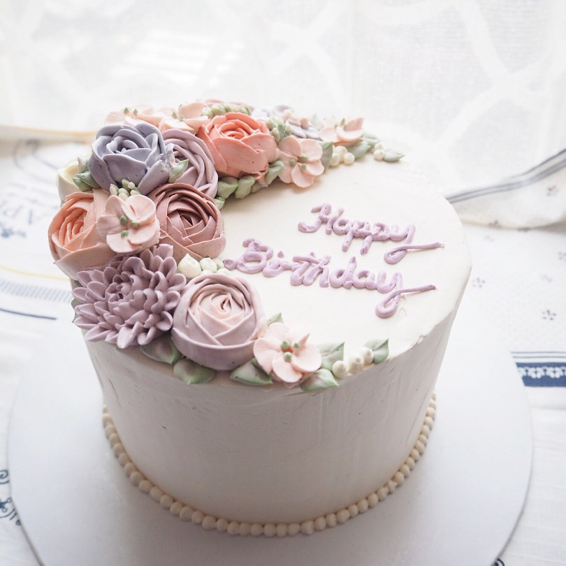Birthday Cakes With Flowers Index Of Wp Contentgallerybespoke Buttercream Flower Cakes