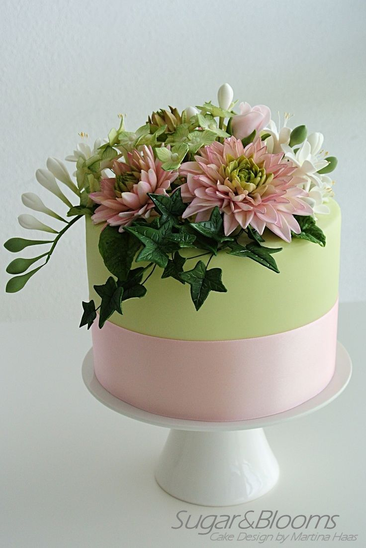 21 Wonderful Photo Of Birthday Cakes With Flowers Davemelillo Com