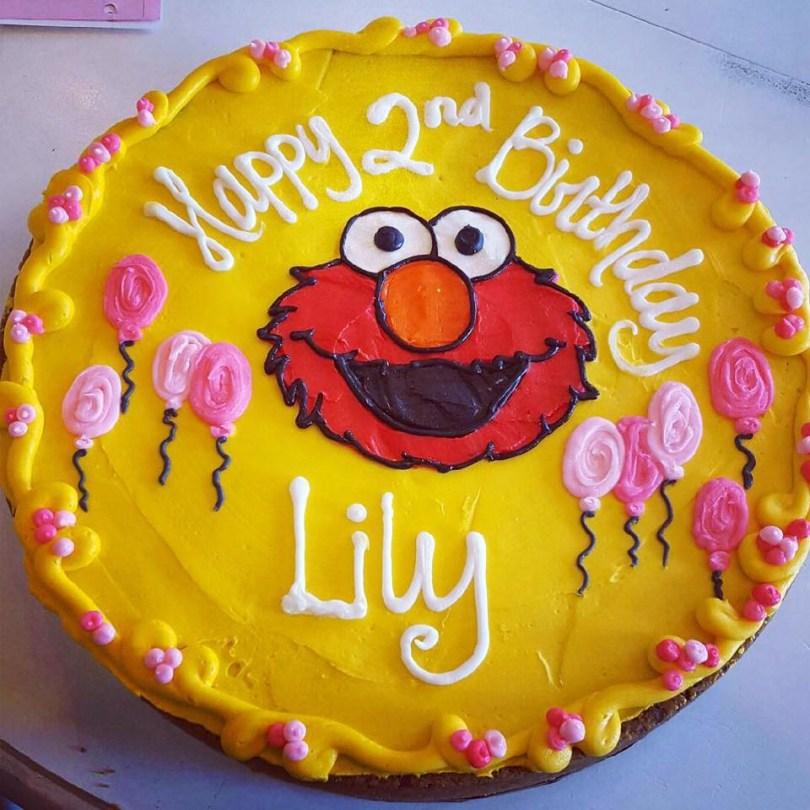 Birthday Cookie Cake Elmo Birthday Cookie Cake Hayley Cakes And Cookieshayley Cakes And