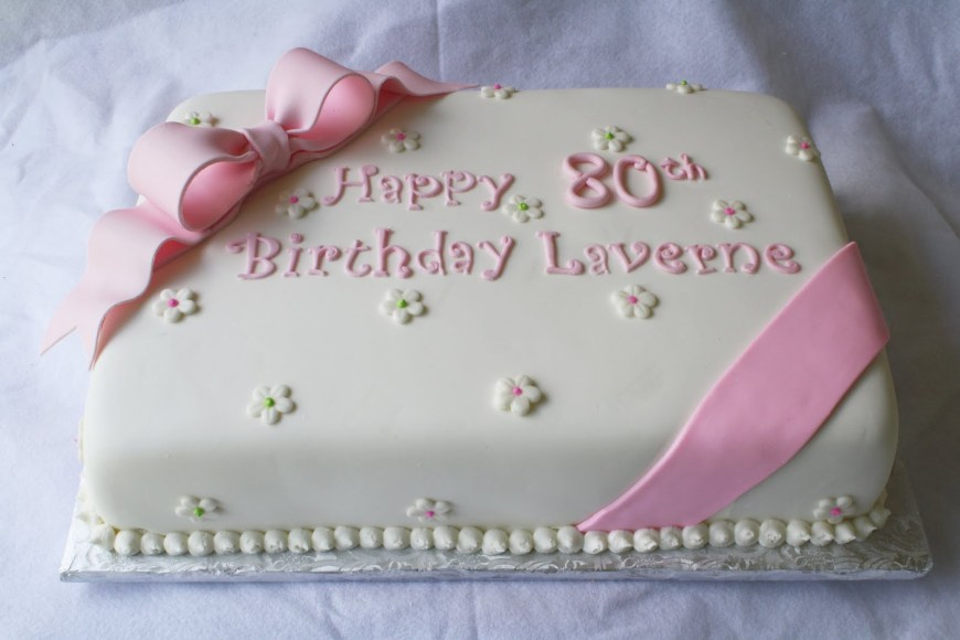 Birthday Sheet Cakes Pink Green Sheet Cakes For 1st And 80th Birthdays